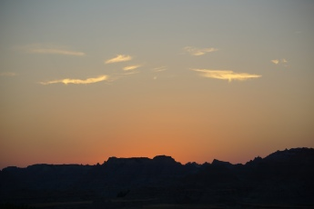 Sunset over The Badlands.