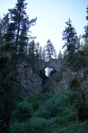Natural Bridge, view from below