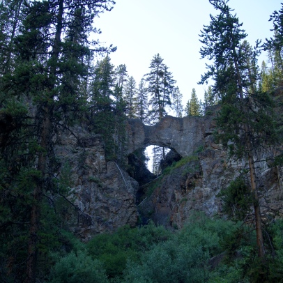 Natural Bridge, view from below