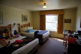 Our little hotel room....minus a/c
