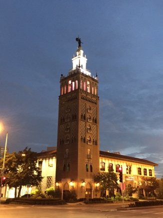 A bell tower in Kansas City.