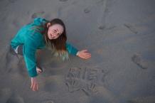 Kiley loves the beach.