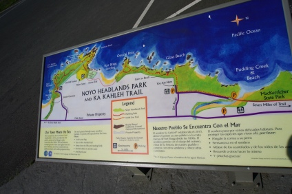 The map of the park.