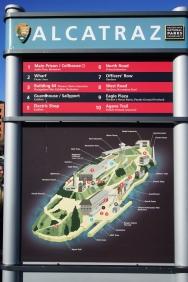 Map of Alcatraz.
