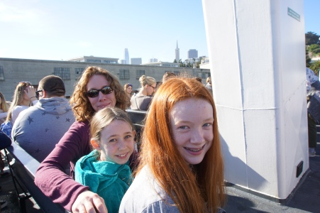 My ladies on the ferry over.