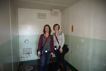 Briana and Jill in Isolation cell.