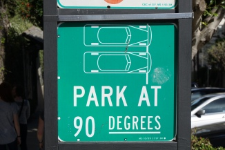 So steep you can only park at 90 degrees.