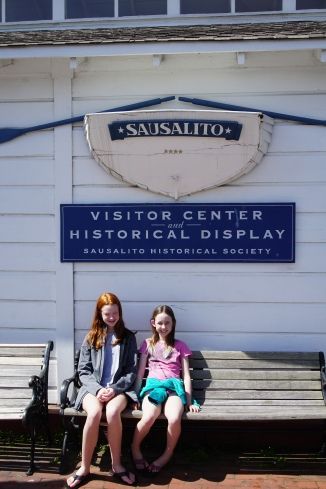 Our babies in front of the visitor center.