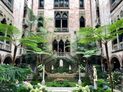 The interior courtyard.