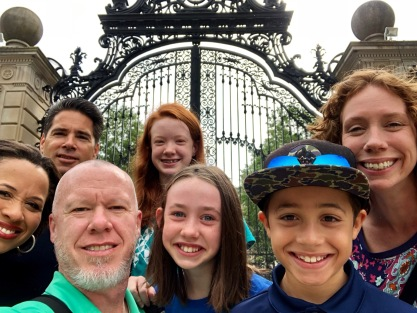 The whole gang outside the gate at the Breakers.